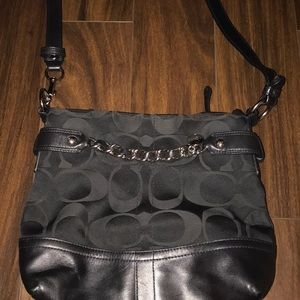 Coach crossbody black purse Authentic